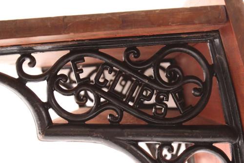 Astonishing Old Antique Eclipse Childs Wood School Desk With Decorative Cast Iron Legs Download Free Architecture Designs Xoliawazosbritishbridgeorg