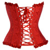 Back View of Red Brocade Corset