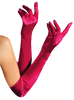 Red Long Satin Stretch Gloves by Elegant Moments Lingerie