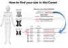 Use this Size chart for the Old Fashion Pink/Red Corset