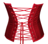 Back View of red satin Waspie