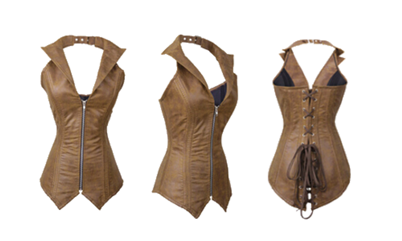 Stunning Long Brown Corset