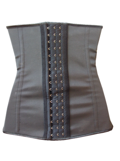 Latex Waist Trainers have 3 size hook and eyes for comfort