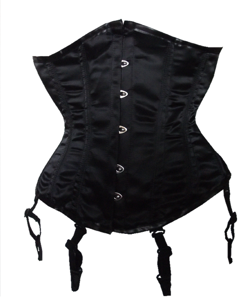 This Black Satin Waist Shaper will reduce your waistline by 5 inches