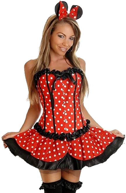 Cute Mini Mouse Corset Costume