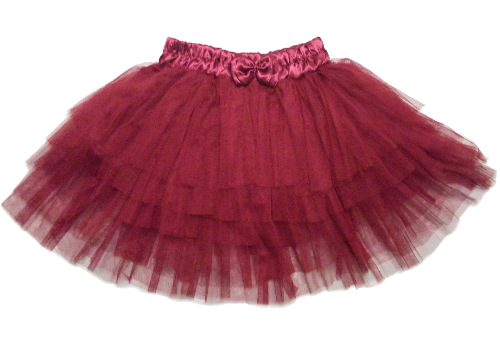 Soft Layered Maroon Tulle Petticoat