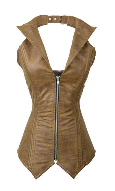 A Fantastic Leather Look Corset works great for Casual Wear