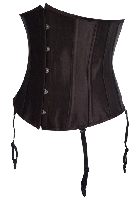 Women's Brown Waist Cincher with Detachable Garters