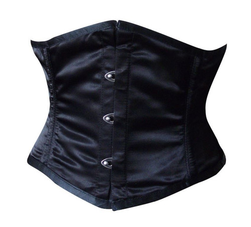0e8b57740c Black Satin Corset Available in Plus Size