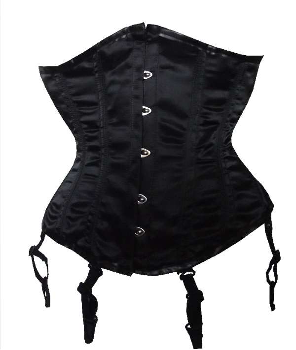 94c9c706a9 This Black Satin Waist Shaper will reduce your waistline by 5 inches. Heavy  Duty Fully Steel Boned ...