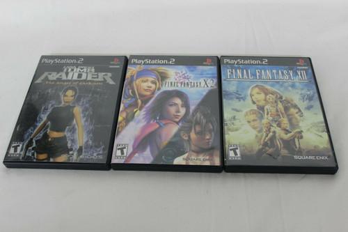 Pre Owned 3 PS2 Games Final Fantasy X-2 & Xii, Tomb Raider The Angel of Darkness