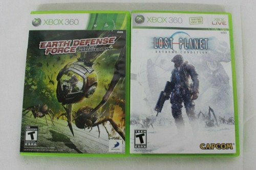 Pre Owned XBOX 360 Lost Planet Extreme Condition & Earth Defense Force