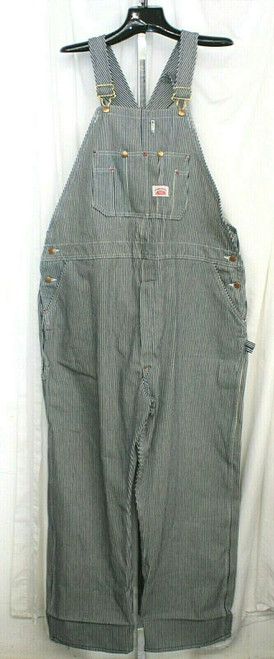 Pre-Owned Red House Blue Striped Coveralls Sz. 48/30