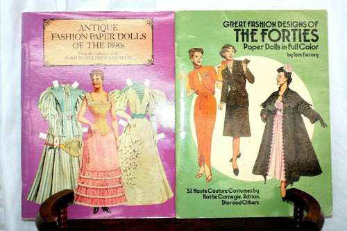 Antique Fashion Paper Dolls of the 1890s in... by Boston Children's Mu Paperback