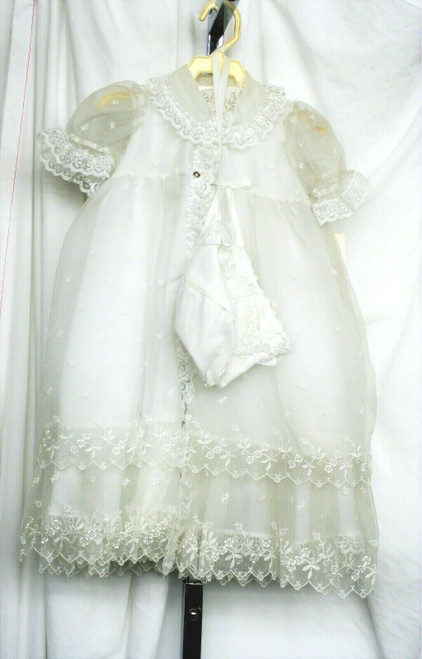 NWT Lyda Fancy 3 Piece Dress/Christening Outfit Sz. M Baby
