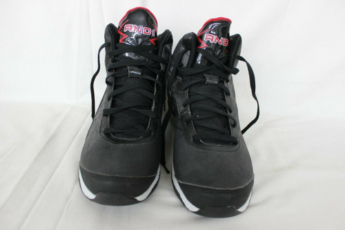 NICE AND1 Men's High Top Basketball Shoes Sneakers Black & Red Size 11