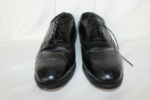 Iron Age Safety Shoes Black Leather Wing Tip Oxfords Men's 8M Steel Toed