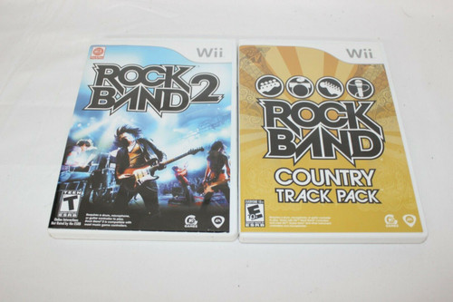 Pre Owned Wii Rock Band Country & Rock Band 2
