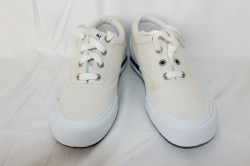 POLO Sport Ralph Lauren Shoes White Canvas Lace Up Sneakers Size 6