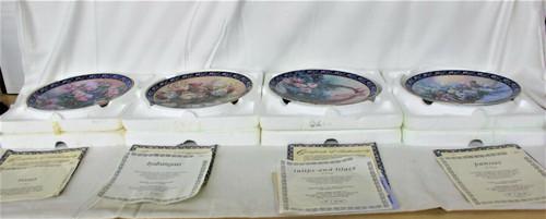 Lena Liu's Basket Bouquets Set Of 7 Collector Plate Bradford Exchange.