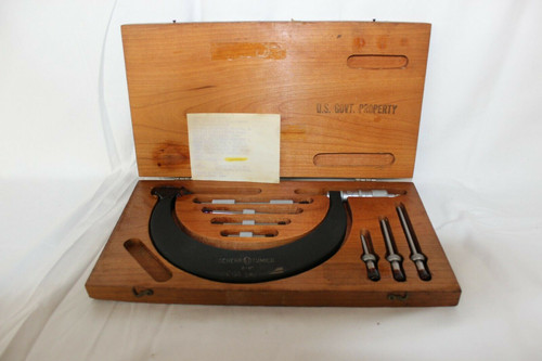 """Scheer Tumico Outside Micrometer 2-6"""" WITH CASE"""