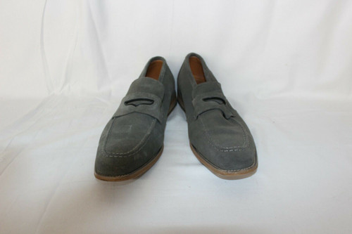 Pre Owned Stacy Adams Colfax Penny Loafer Shoes Gray Suede 25205-061 Size 8.5M
