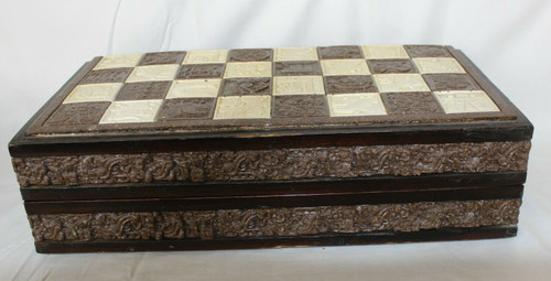 Vintage Resin Chess Set Complete