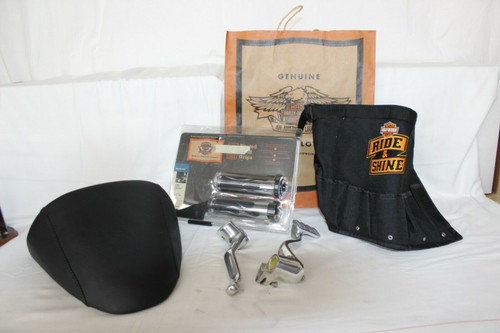 Pre Owned Misc. Harley Davidson Parts, Peddles, Cover, Handle Grips & Bag