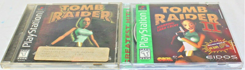 Pre Owned PS1 Games Tomb Raider & Tomb Raider 2