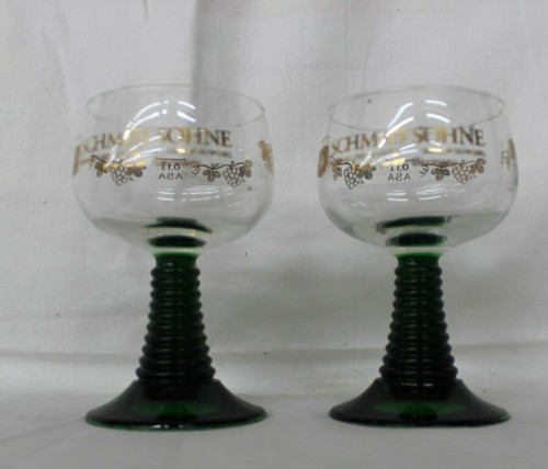 Schmitt Sohne Wine Glasses Goblets West Germany Set of 2