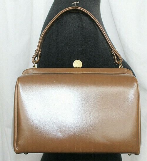 Vintage Creations By International Small Purse Handbag Brown Leather