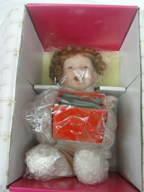 """The Ashton Drake Galleries Happiness is """"My First Christmas"""" Doll NIB"""