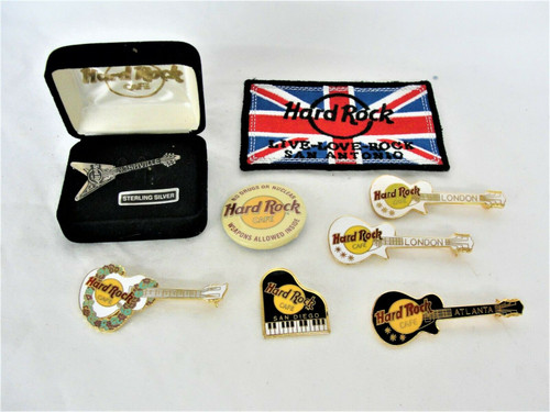 Pre Owned Hard Rock Cafe Pens and Patch Memorabilia