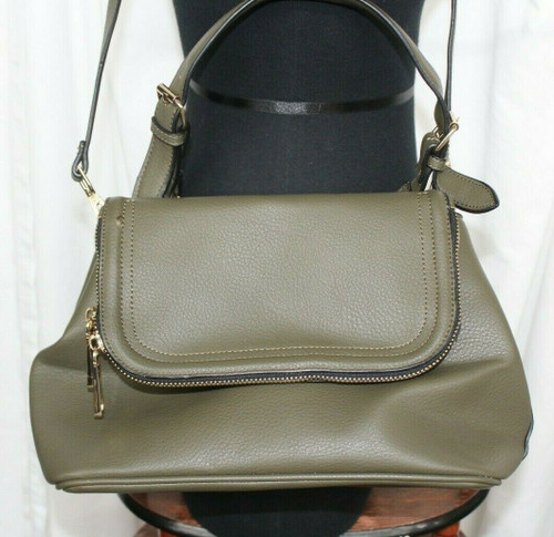 Pre-Owned Women's Aldo Olive Green Faux Leather Fold Over Purse