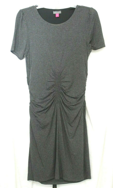 NWT Women's Vince Camuto Short Sleeved Charm Dress In Heather Grey Sz. M
