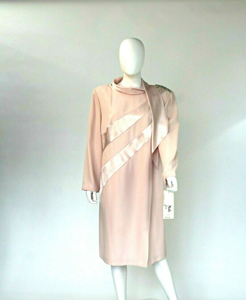 Mother Of Bride Pale Pink Dress, Stone Accents, Nah Nah Collection Size 20WP