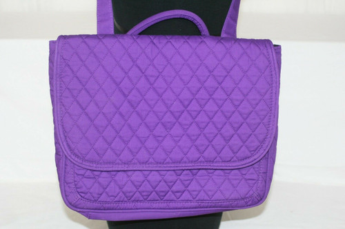 NWT Unisex Digital Gadgets Purple Quilted Nylon 3 in 1 Messenger Bag