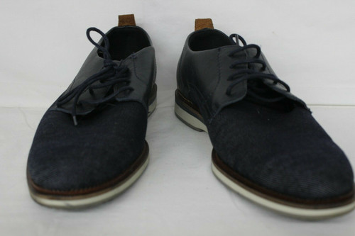 Bull Boxer Attikys Blue Denim With Brown Leather Mens 8 Casual Shoes Sneakers
