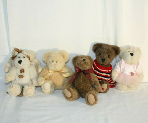 Lot of 5 Mini Boyds Bears Assorted Colors