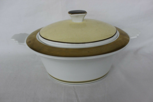 Preowned VILLEROY & BOCH China VIVIAN Soup Tureen, Gold Pattern
