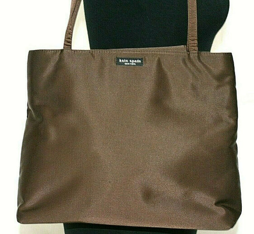 Pre-Owned Women's Kate Spade Brown Nylon Tote Style Bag