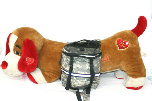 Pre-Owned  Zack & Zoey Day Tripper Dog Backpack In Camo Sz. Large