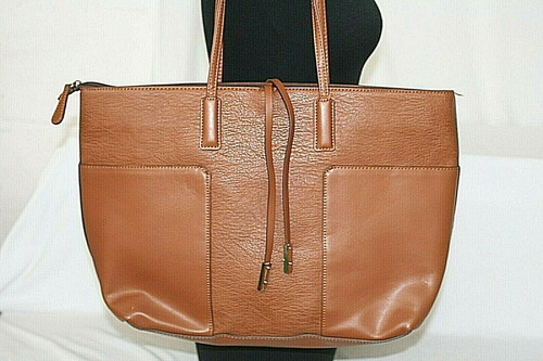 Pre-Owned Faux Leather A+ Brown Large Tote Purse