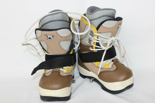 Emery Rossignol Unisex Tan Youth Snowboarding Boots Size 19.5 cm / EU 29