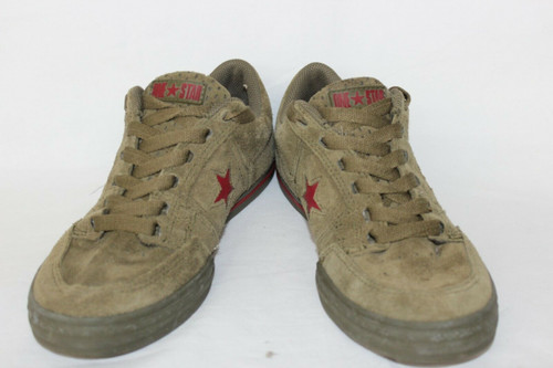 Converse Custom One Star Suede Low Top green with red star rare 8