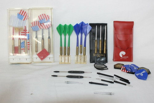 Lot of 5 sets of Darts, Assorted Brands and Colors