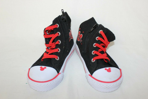 Disney Mickey Mouse KIDS Size 7.5  Classic High tops,Zip Up Shoes