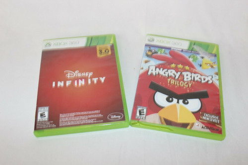 2 XBOX 360 Games, Angry Birds Trilogy, Disney Infinity