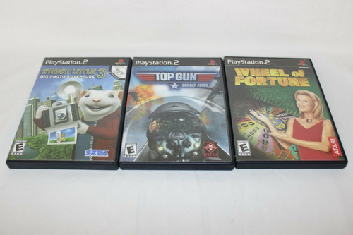 Lot of 3 PS2 Games, Wheel Of Fortune, TopGun, Stuart Little 3