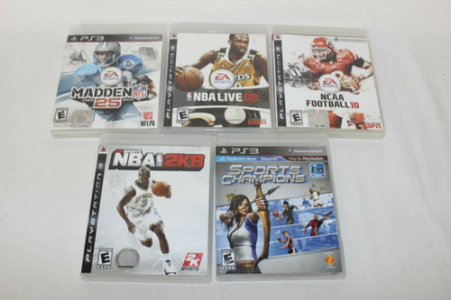 5 PS3 Games Sports Champion,NBA2K8,NBA Live 08,Madden25,NSAAFootball10
